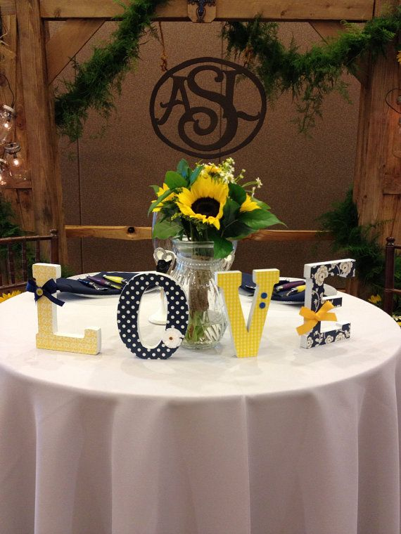 LOVE Letters - Weddings Home Decor - Set of Four Six Inch Freestanding - Any Color Scheme