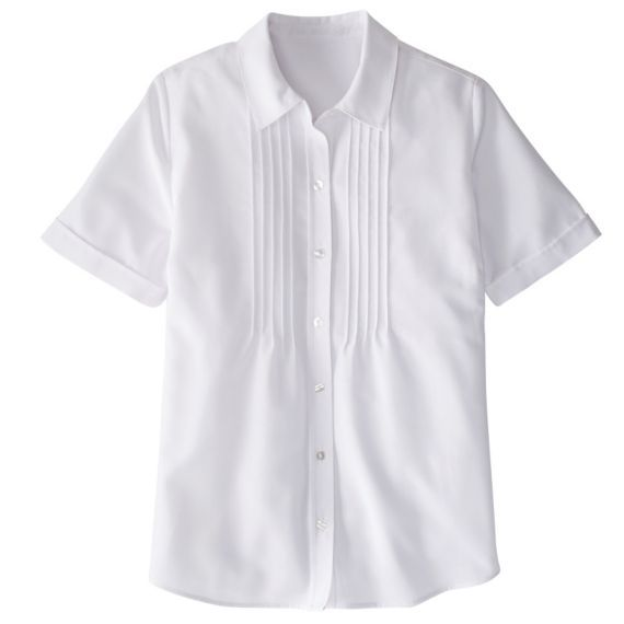 Short-Sleeved Perfect Pintuck Poet Shirt