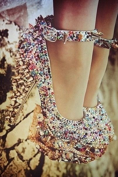 I'll take two: Spikes Shoes, Studs, In Love, Crazy Shoes, Bling Shoes, Sparkly Shoes, High Heels, Sparkle Shoes, Bling Bling