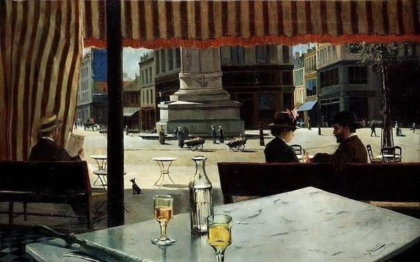 """Елисео Мейфрен Ройг """"Парижская площадь"""" 1887"""