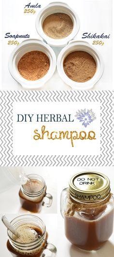 DIY Herbal Shampoo, (Shikakai shampoo), (Amla) (Soapnuts) (Homemade Shampoo) (no poo method) (shampoo recipe) (no poo shampoo)