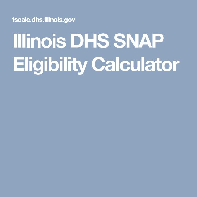 Illinois DHS SNAP Eligibility Calculator