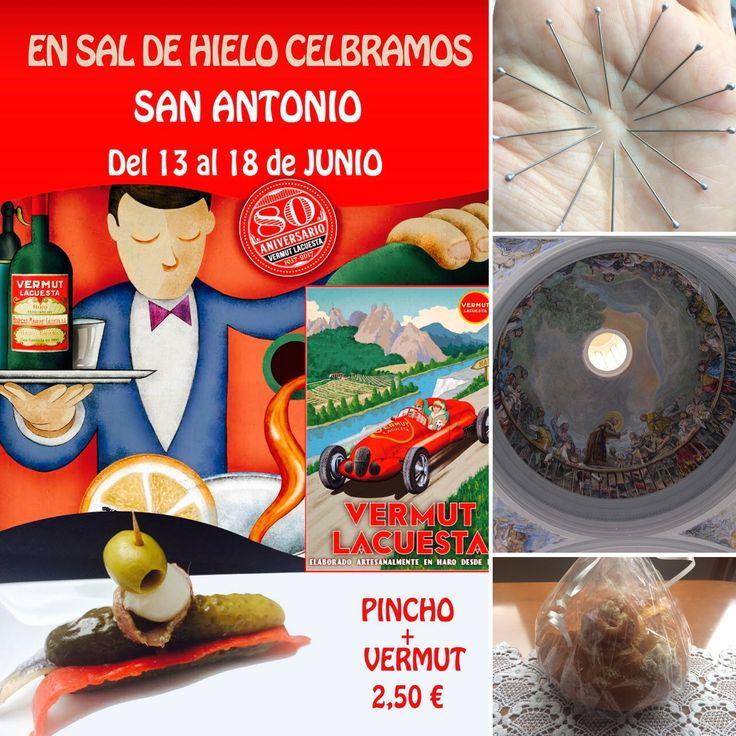 #Felicidades #Antonios #Antonias #Toñis #Tonis !!! 🎉 l#13 #alfileres 📍para encontrar  #novio , el #pan para tener #trabajo , la #ermita con los magistrales frescos de #Goya ... ¡Y la celebración en  #SaldeHielo para curarte en #salud ...  con una #oferta #deliciosa !  😄💕🍸🍡🍣 #Vermut #Gourmet #Lacuesta + #Pincho de #Autor ¡ 2,50€ ! Del 13 al 18 de Junio http://saldehielo.es/blog/san-antonio-en-sal-de-hielo/ #madrid #restaurante #verbena  #food #foodies #gastro #yummy #delicious