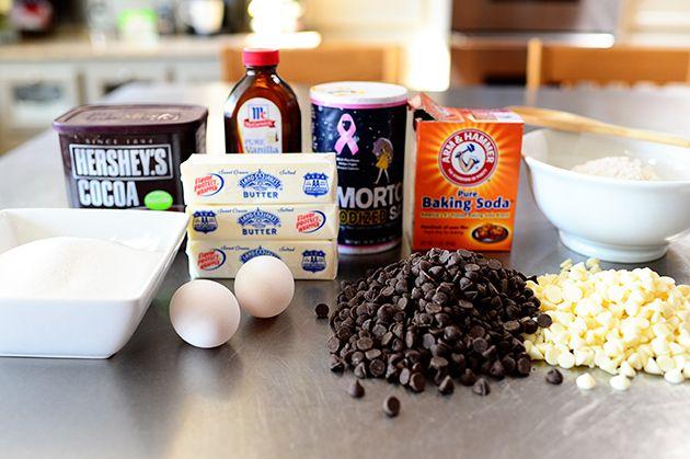 Chocolate Chocolate White Chocolate Chip Cookies