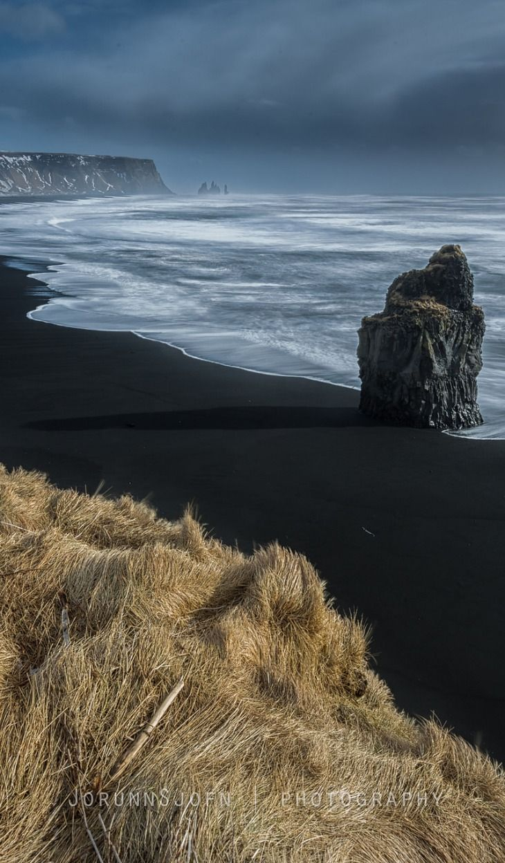Reynisfjara Beach, Southern Iceland - had a picnic in a little cave on this beach!