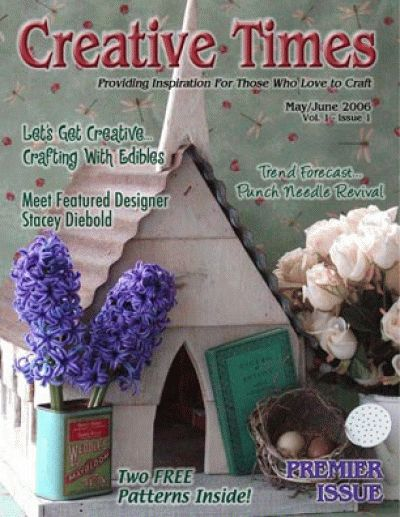 Very first issue. Free Creative Times Magazine with articles, DIY craft tutorials and free patterns.