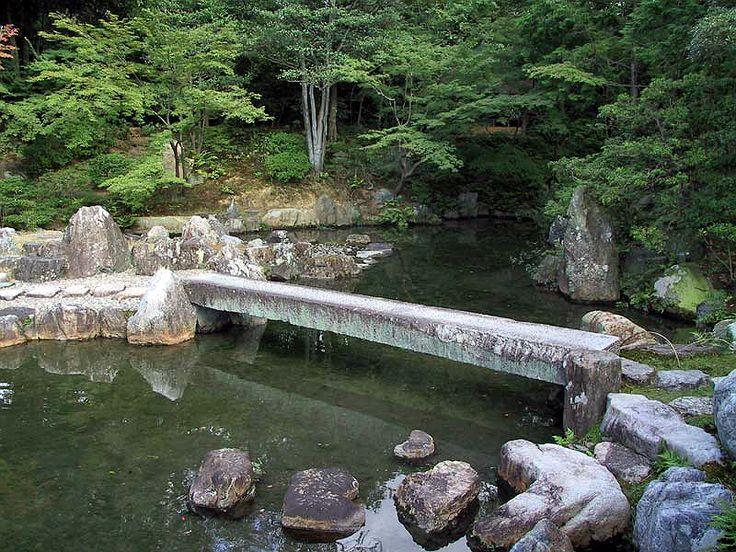 A Shirakawa Bashi Stone Bridge @ Katsura Rikyu Imperial Villa 桂離宮 Garden  Kyoto