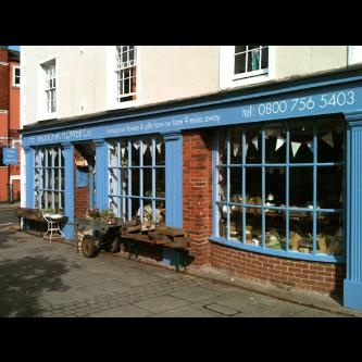 Hand painted florist shopfront in Stone, Staffordshire, England.
