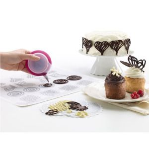 Decomat Kit | create fancy designs in chocolate as toppers - Kitchen Krafts