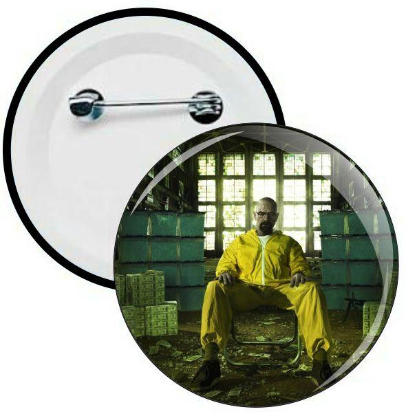 H011 - Botons e Chaveiros - Breaking Bad - Walter White - Heisenberg - Wathsapp: (61) 9 9129-7213