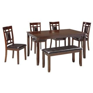 Shop for Signature Design by Ashley Bennox Brown 6-Piece Dining Room Table Set. Get free delivery at Overstock.com - Your Online Furniture Shop! Get 5% in rewards with Club O!