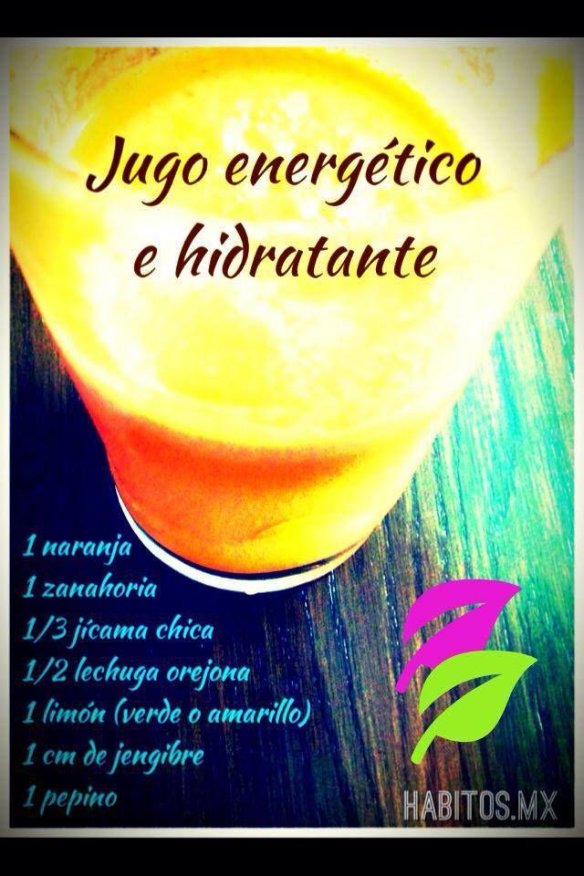 Jugo ENERGÉTICO E HIDRATANTE: naranja, zanahoria, jícama chica, lechuga orejona, limón, jengibre y pepino