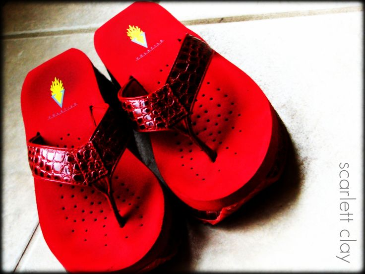 red flip flops - Google Search