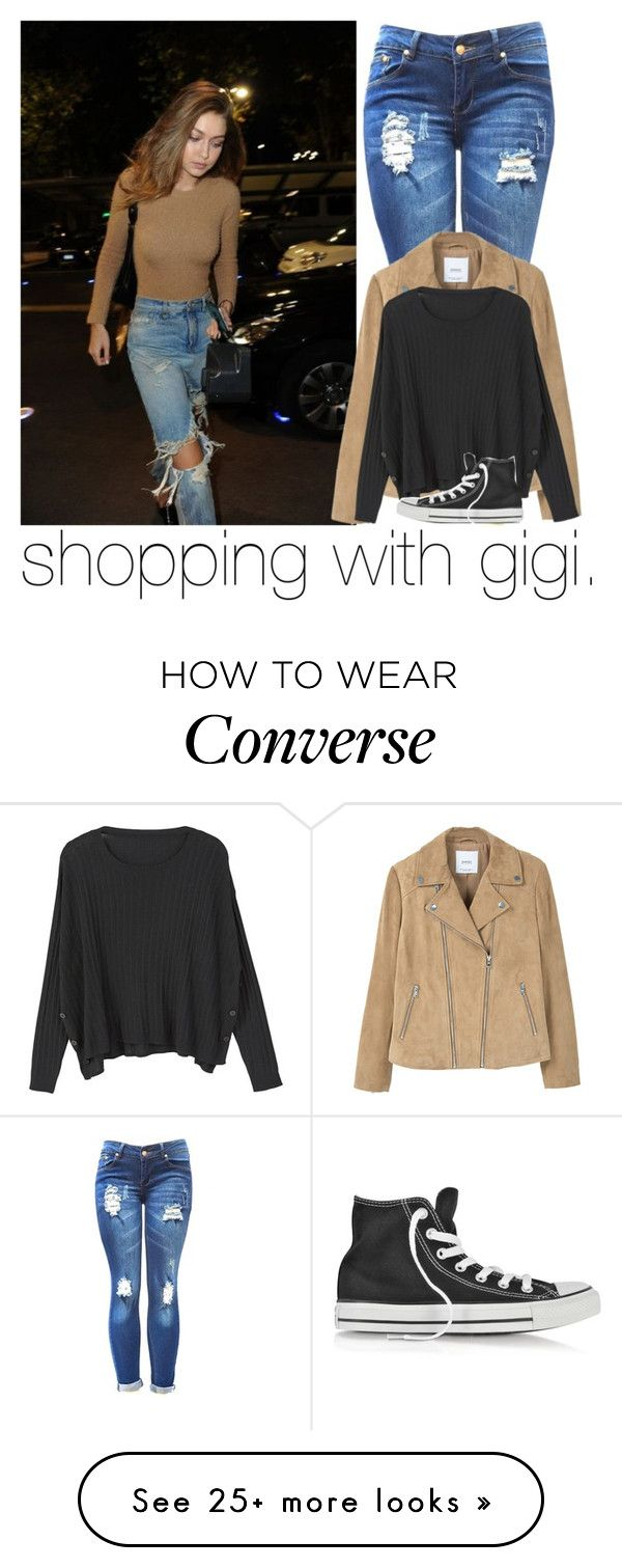 """""""shopping with gigi."""" by girlalmightysyd on Polyvore featuring MANGO and Converse"""