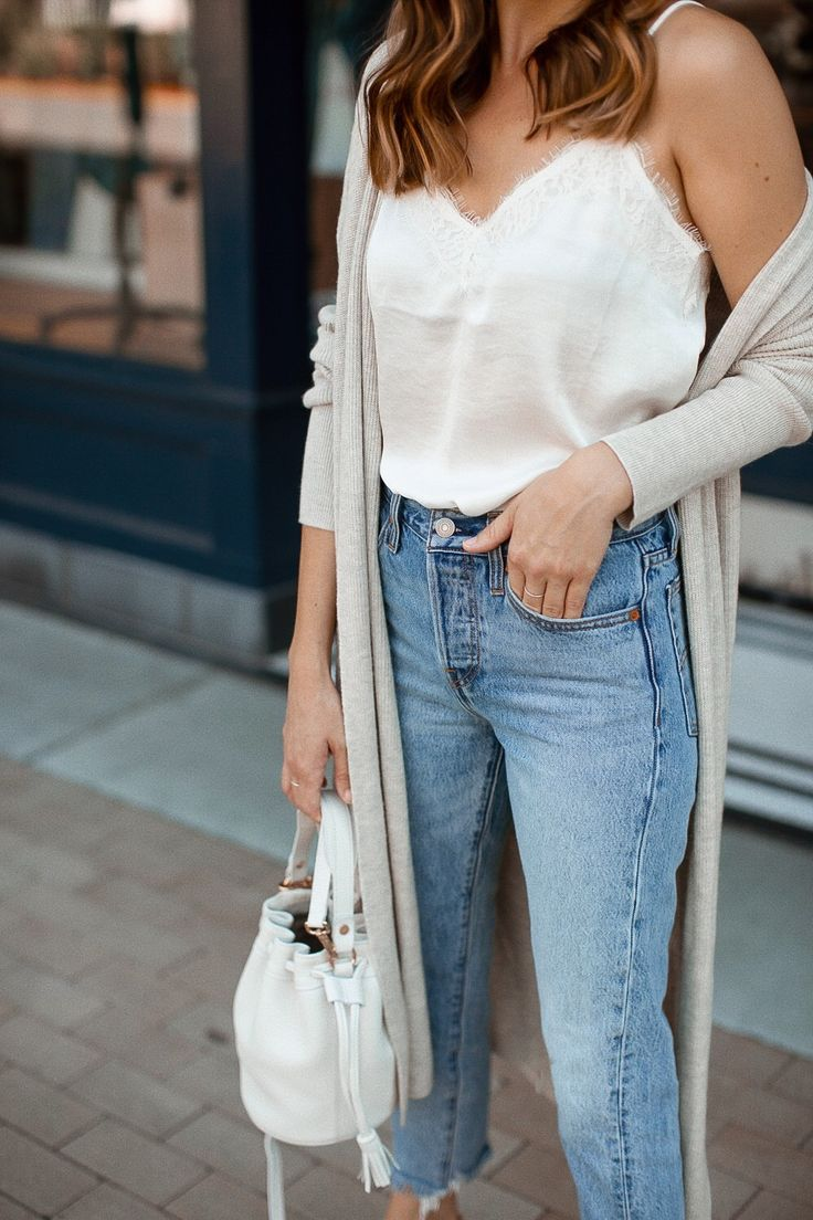 An Easy Way to Wear a Lace Cami 1
