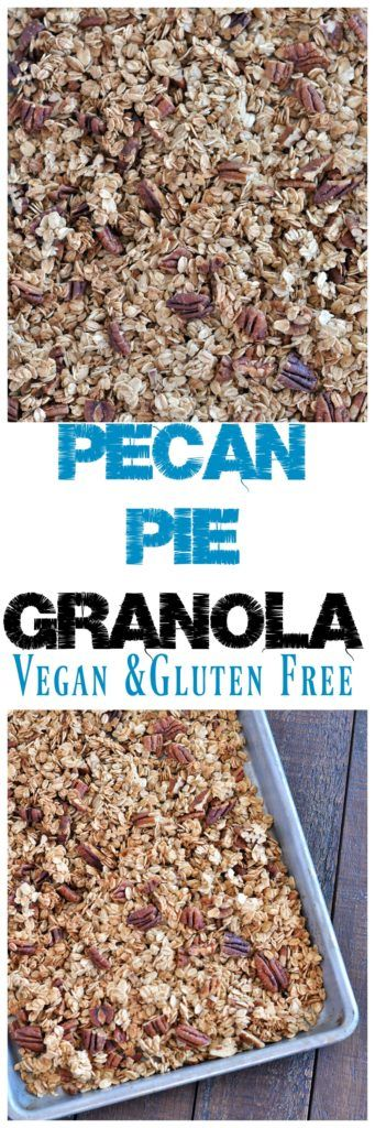Healthy granola that tastes like pecan pie.  Only a few simple ingredients to ma…