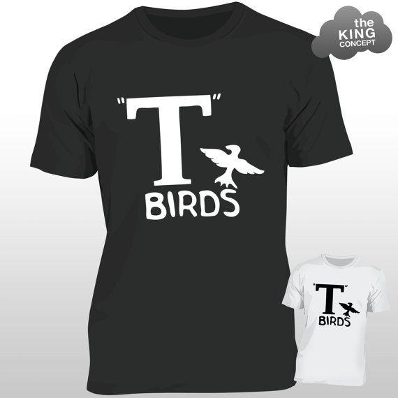 T Birds T-Shirt Grease Black Jacket T-Bird John by TheKingConcept