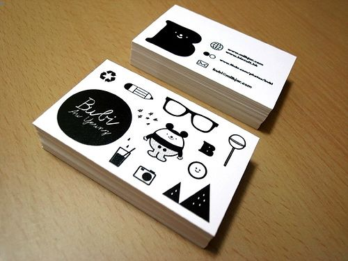 14 best business cards for freelance graphic designers web designer bubi au yeung illustrates her creative style with examples of icon she has designed on reheart Choice Image