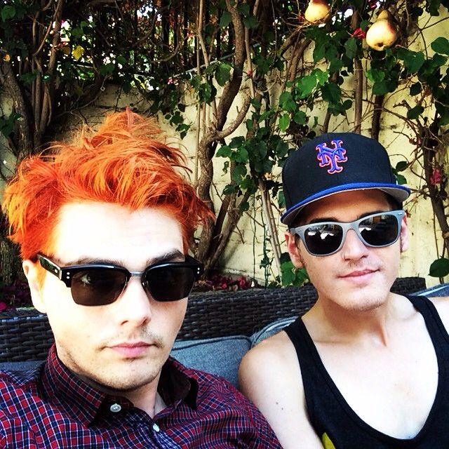 Gerard Way And Mikey Way 2015