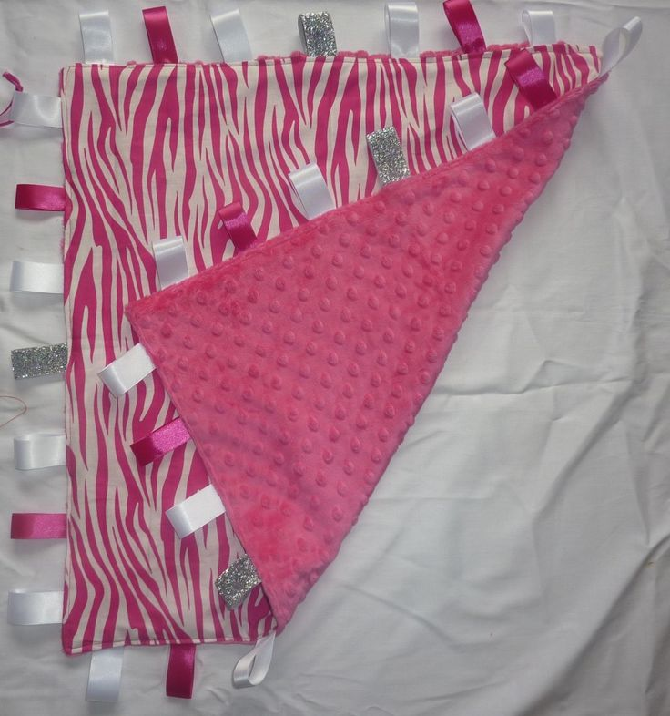 Pink & White Zebra print Large Tag Blanket - The Supermums Craft Fair