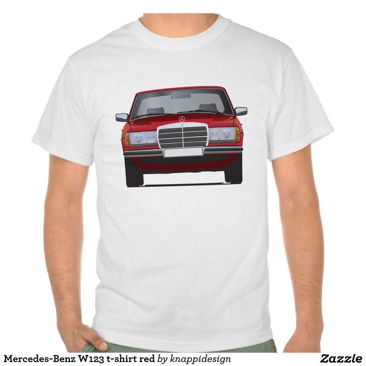 Mercedes-Benz W123 t-shirt red  #mercedesbenz #mercedes #mercedes-benz #123 #tshirt #tshirts #tpaita #troja #germany #classics #zazzle