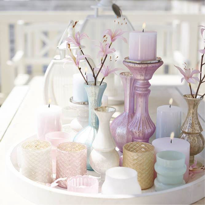 Kaarsen decoratie kandelaar pastel candles kaarsenhouders candle holders pinterest - Decoratie kamer ...