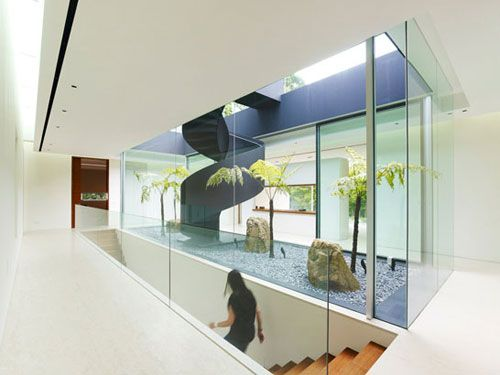 Completed in 2011, JKC1 is a spacious feng shui inspired house in Bukit Timah, Singapore designed by ONG&ONG.: Interior Design, Jkc1 House, Stairs, Interiors, Ong Ong, Architecture, Garden