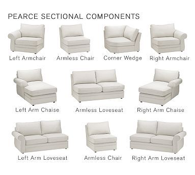 Pearce Upholstered Right-arm Loveseat Down Blend Wrapped Cushions Sunbrella(R) Performance Canvas Gravel | Room Living rooms and House  sc 1 st  Pinterest : chaise loveseat sofa - Sectionals, Sofas & Couches