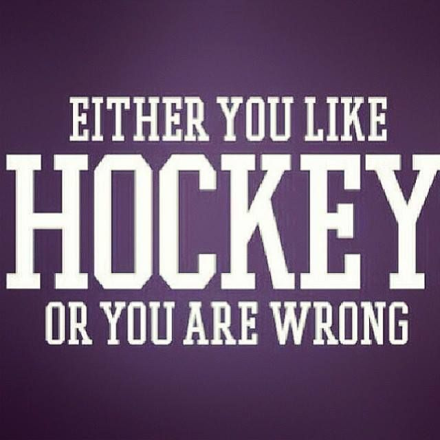 Either you like Hockey or you are wrong!
