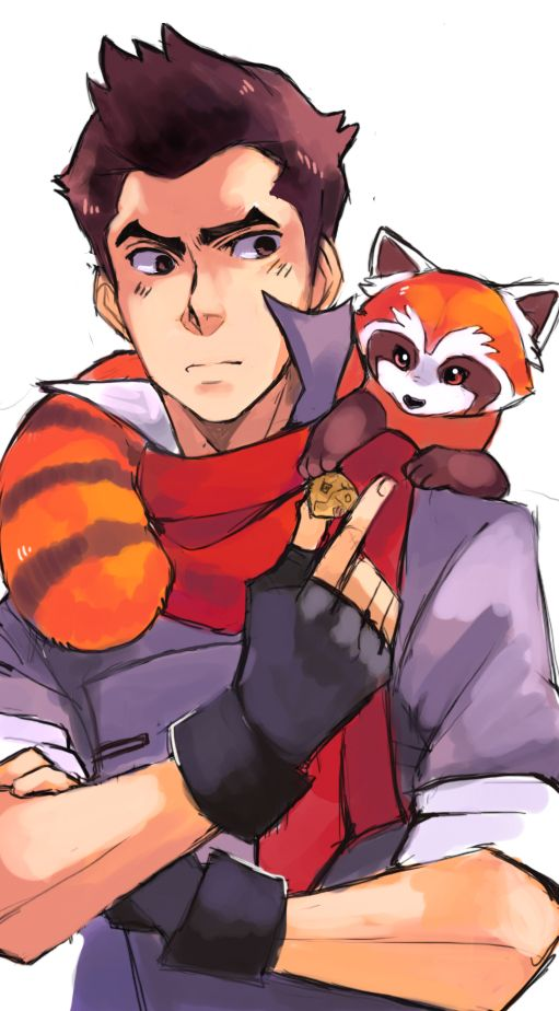 Tags: Anime, Feeding, Avatar: The Legend of Korra, Mako (Avatar: Legend Of Korra), suikuzu, Pabu (Legend of Korra)