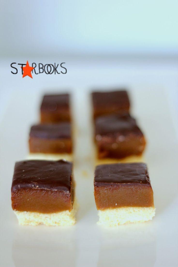 La base burrosa e friabile.  Il caramello salato.  Il cioccolato a racchiudere.  Beh, se riuscite a resistere fatemene sapere il segret...