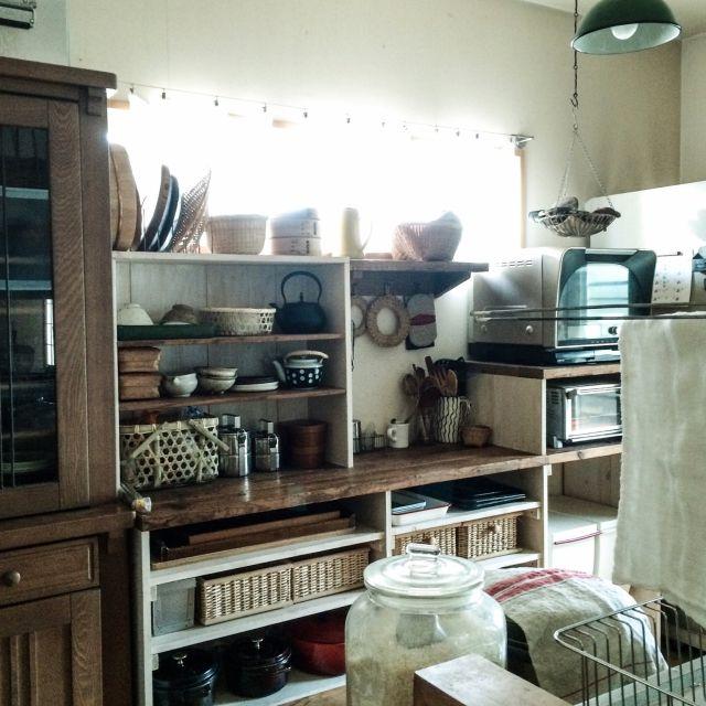 キッチン収納/生活感/DIY/Kitchenのインテリア実例 - 2015-01-14 14:21:26 | RoomClip(ルームクリップ)