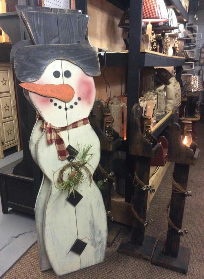 Tall rustic snowman snowman wood craft christmas winter for Pinterest wood crafts for christmas