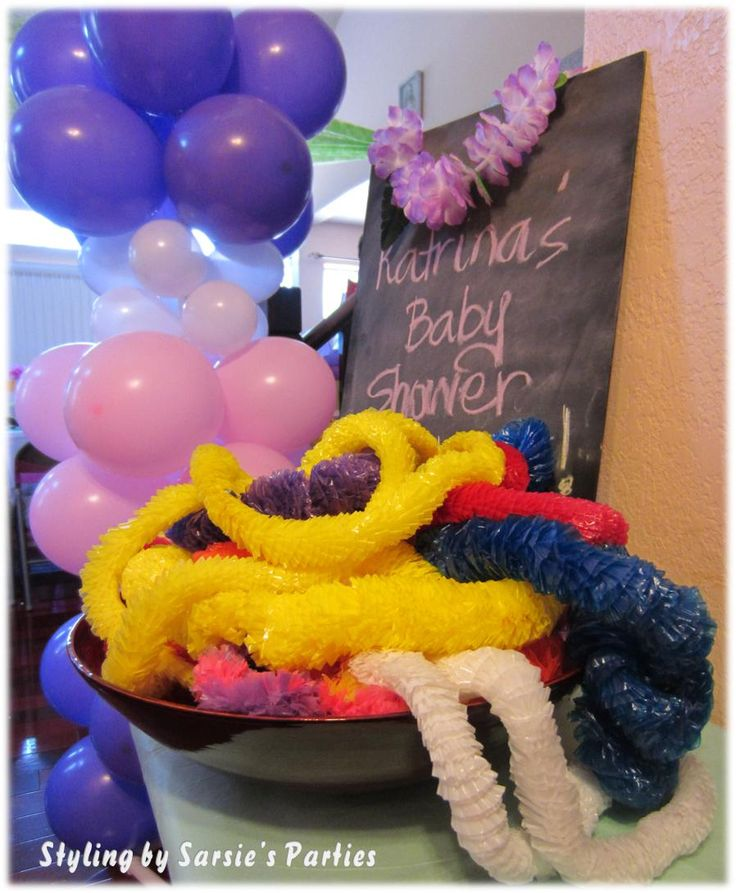 luau baby shower cute idea