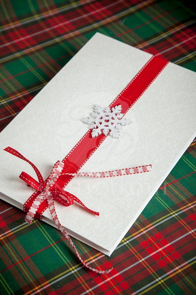 Χριστουγεννιάτικο βιβλίο ευχών για βάπτιση και γάμο με χιονονιφάδα, Christmas…