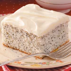 Poppy Seed Cake with Cream Cheese frosting. Just don't take a drug test after eating :)