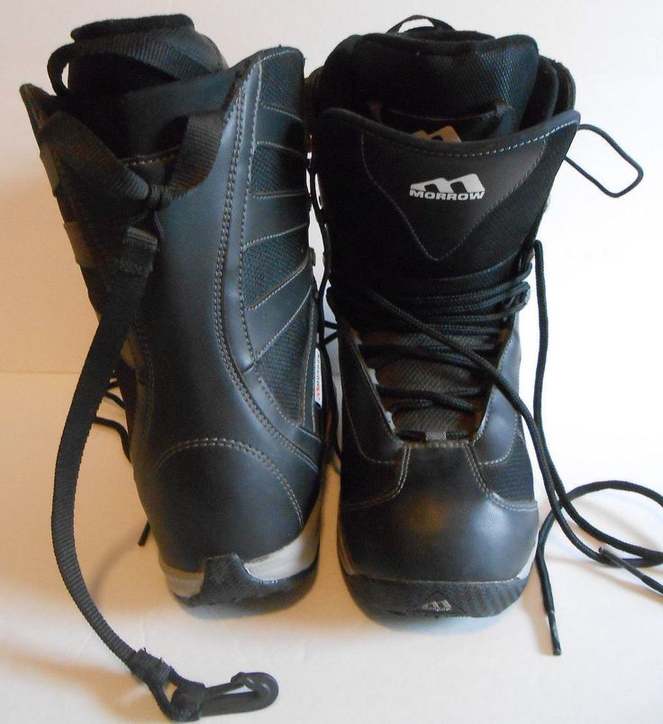 MORROW Snowboard Snow Boots Mens size 8.5 Black NEVER WORN
