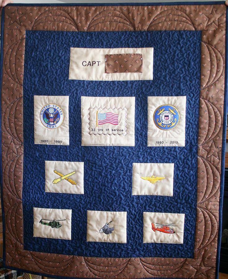 Military Retirement Quilt Military Stuff Pinterest