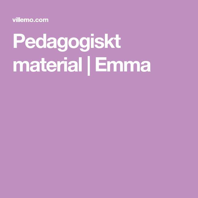 Pedagogiskt material   Emma
