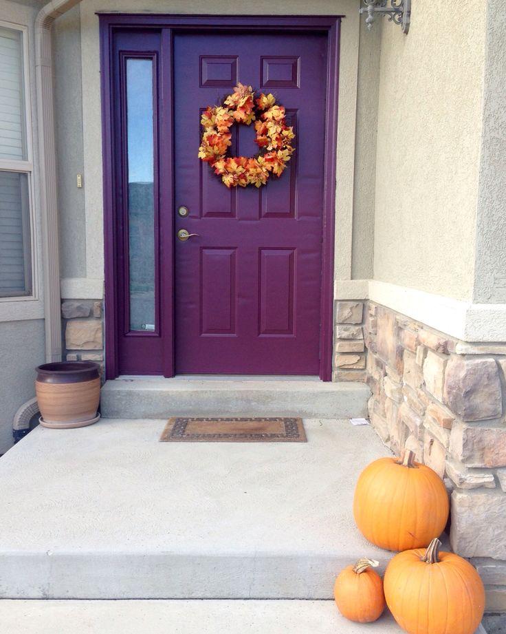 """Love my new PURPLE front door! Used Modern Master's front door paint in """"playful."""""""