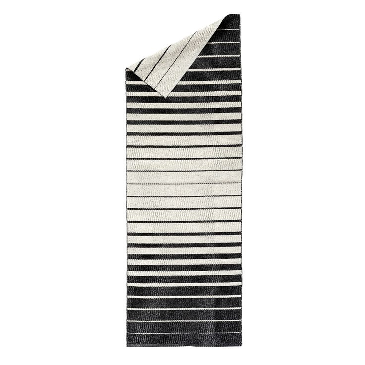Fade plastic rug black from Nordic Nest. Made in Sweden.