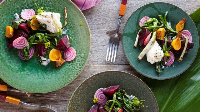 Grilled Beets with Burrata and Poppy Seed Vinaigrette | Bon Appetit