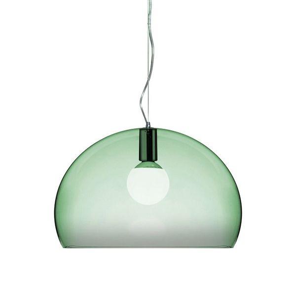 Lampe til Theodor sitt rom. 2290,- FL/Y er designet av Ferruccio Laviani og produseres av Kartell.-PÅ LAGER i Vestfold-Lys grønn, lys blå og o