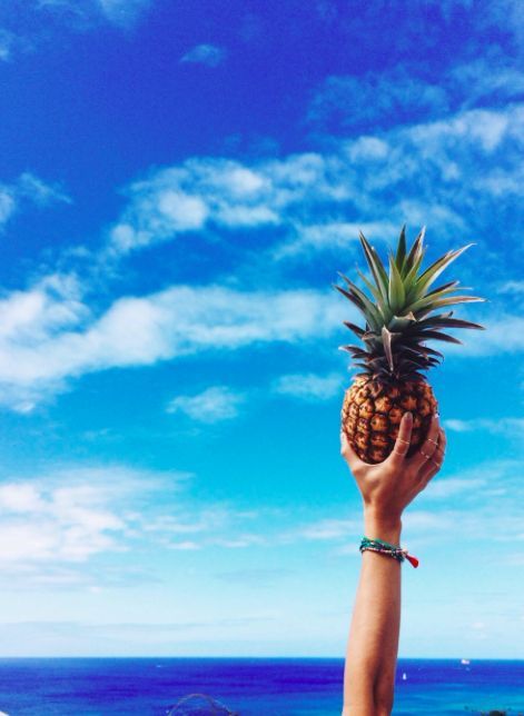 pineapples + blue skies