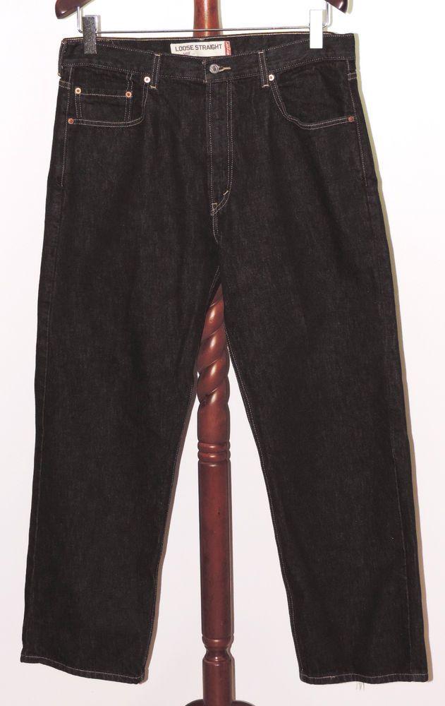 21546078c6f Levi's 569 Loose Straight 36 x 30 Black Denim Jeans #Levis ...