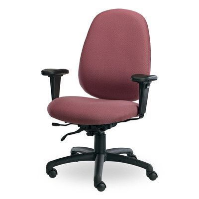 Seating Inc Advent High-Back Desk Chair Upholstery: Black, Arms: Flat Arm Rests, Seat Mechanism: Tilt and Height Adjustable