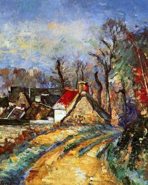 The Turn in the Road at Auvers, 1873 Paul Cezanne