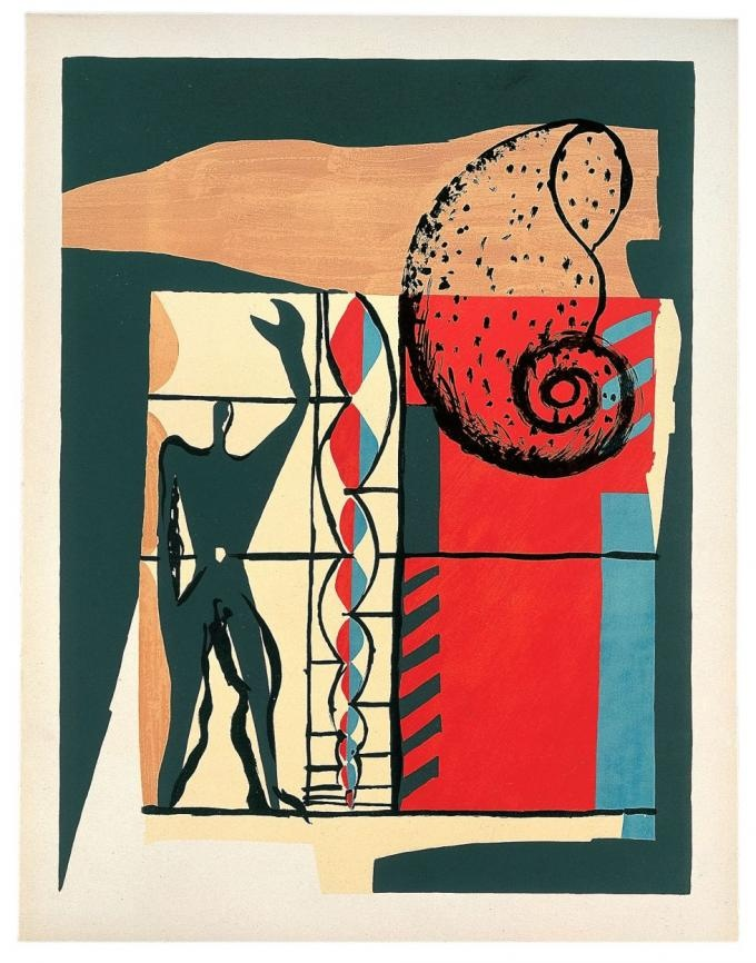 Le Corbusier, The Poem of the Right Angle, plate 6, 1955, © Le Corbusier/ BUS 2012.