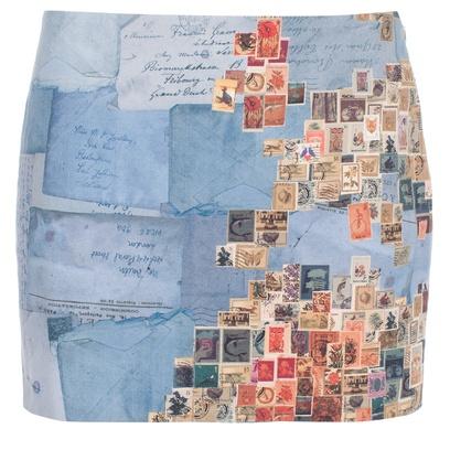 Paul Smith Skirt - 'Stamp Map'Print