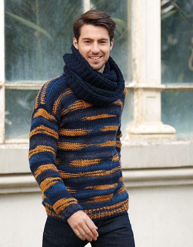 Stratos | Book Woman Sport 83 Autumn / Winter | 30: Man Sweater | Blue-Ochre